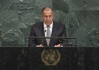 Foreign Minister of Russian Federation Addresses General Assembly