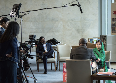 Messenger of Peace Malala Yousafzai Gives Interview to UN News