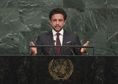 Crown Prince of Jordan Addresses General Assembly