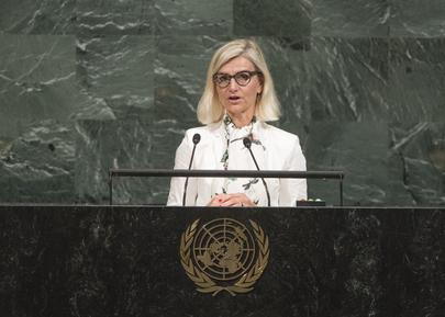 Danish Minister for Development Cooperation Addresses General Assembly