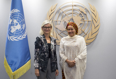 Deputy Secretary-General Meets Danish Minister for Development Cooperation