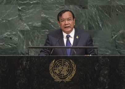 Foreign Minister of Cambodia and the Grenadines Addresses General Assembly