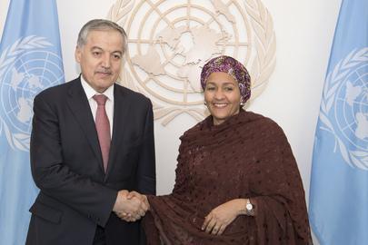 Deputy Secretary-General Meets Foreign Minister of Tajikistan