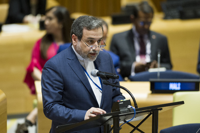 The Representative of Iran Addresses General Assembly Meeting on Total Elimination of Nuclear Weapons