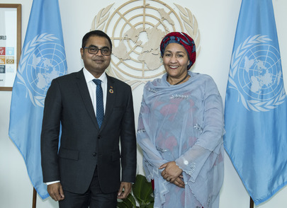 Deputy Secretary-General Meets Environment Minister of Maldives
