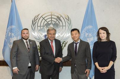 Secretary-General Meets Members of UN-GLOBE