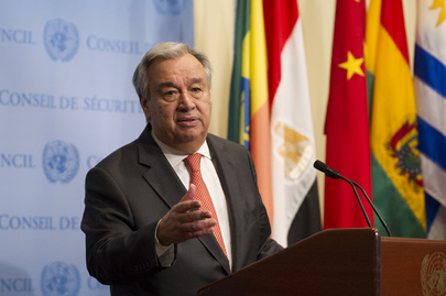 Secretary-General Speaks to Press on Countries Affected by Recent Hurricanes