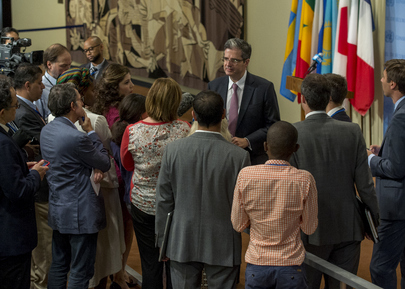 President of Security Council Speaks to Press on Mali