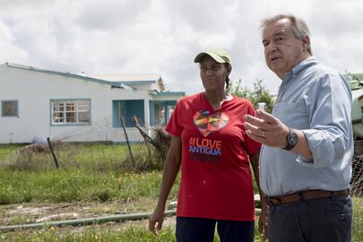 Secretary-General Visits Antigua and Barbuda to Survey Hurricane Damage