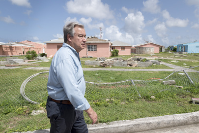 Secretary-General Visits Antigua and Barbuda to Survey Hurricane Damage
