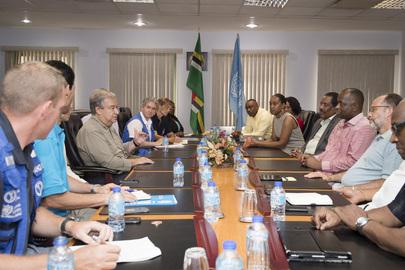 Secretary-General Visits Dominica to Survey Hurricane Damage