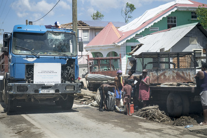 Scene from Rousseau in Dominica During Secretary-General's Visit