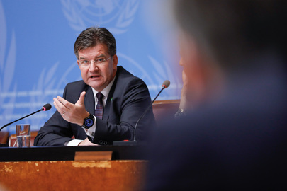 President of General Assembly Holds Press Conference at UNOG
