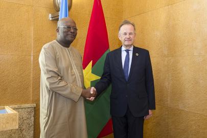 UNOG Director-General Meets President of Burkina Faso