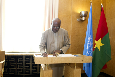 President Burkina Faso Visits United Nations Office at Geneva