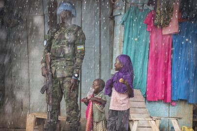 MINUSCA Peacekeepers Patrol PK5 Neighbourhood in Bangui, CAR