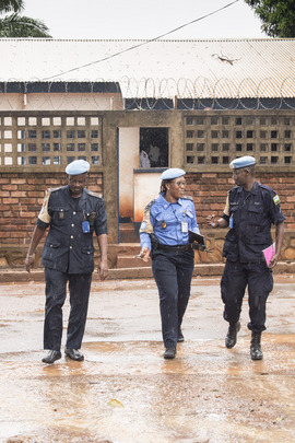 MINUSCA Police Officers Visit Police Station in Bangui