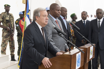 Secretary-General Meets President of Central African Republic