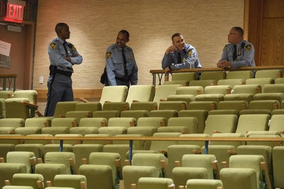 UN Security and Safety Officers after Security Council Meeting