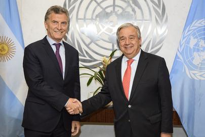 Secretary-General Meets President of Argentina