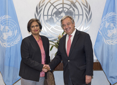 Secretary-General Meets Head of Office for National Unity of Sri Lanka