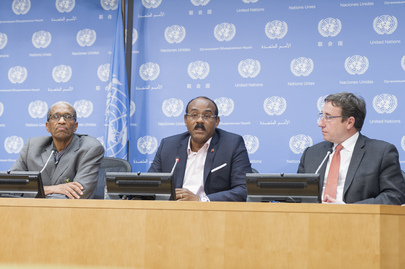 press briefing on caricomun highlevel pledging conference