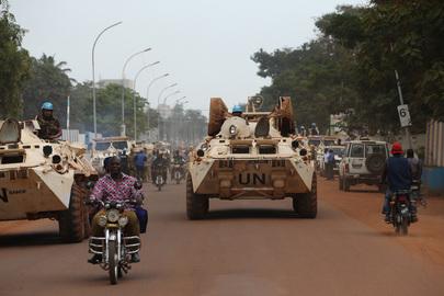 MINUSCA Peacekeepers Patrol Streets of Bangui