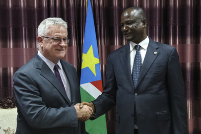 UN Review Team Meets First Vice-President of South Sudan