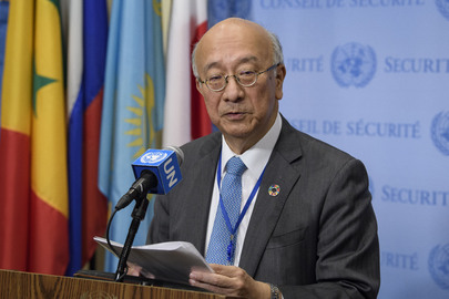 Security Council President Addresses Press