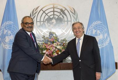Secretary-General Meets Chairman of UN Board of Auditors