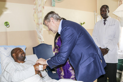 USG for DPKO Visits Wounded UN Peacekeepers