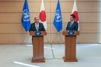 Secretary-General and Prime Minister of Japan Jointly Address Press