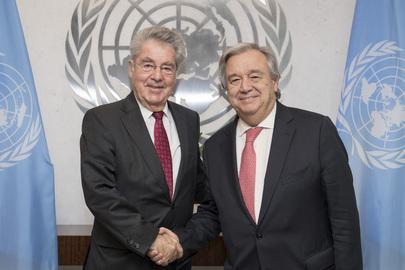 Secretary-General Meets Former President of Austria