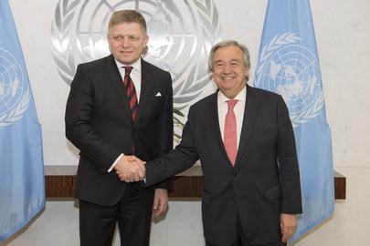 Secretary-General Meets Prime Minister of Slovak Republic