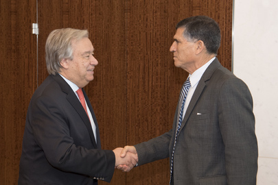 Secretary-General Meets Former Force Commander of MONUSCO and MINUSTAH