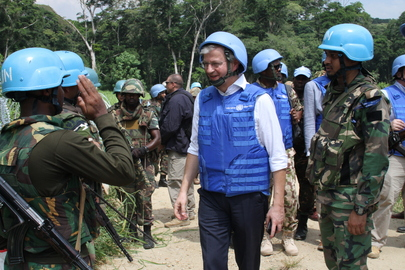 USG for DPKO Visits MONUSCO Base in DRC