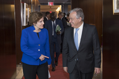 Secretary General Meets CEO of Global Partnership for Education