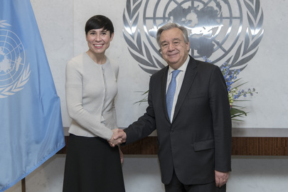 Secretary-General Meets Foreign Minister of Norway