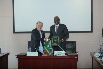 Secretary-General and AU Commission Chairperson Sign Framework for Implementation of Agendas on Africa and Sustainable Development
