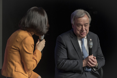 Secretary-General Featured on Television Show in Republic of Korea