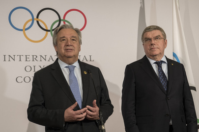 Secretary-General and IOC President Hold Joint Press Encounter
