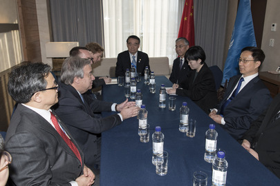 Secretary-General Meets Special Representative of President of China