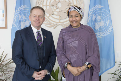 Deputy Secretary-General Meets Minister of State for Diaspora and International Development of Ireland