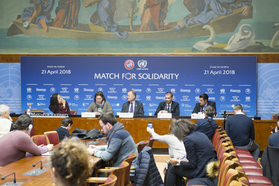 UNOG Director-General Briefs Press about Match for Solidarity 2018