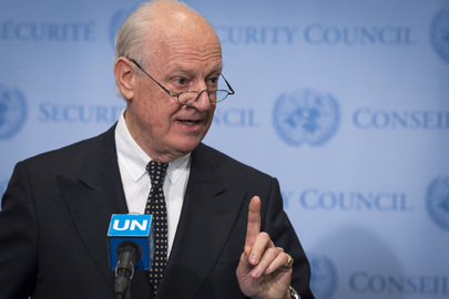 UN Special Envoy for Syria Briefs Press