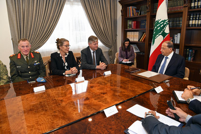 UN Peacekeeping Chief Meets President of Lebanon