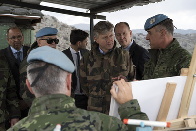 UN Peacekeeping Chief Visits Blue Line in South Lebanon