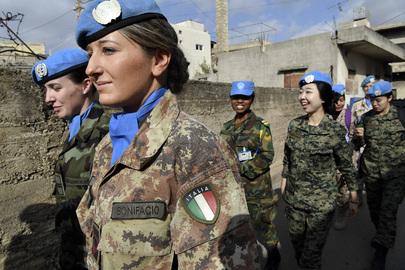 UNIFIL Peacekeepers Patrol Local Market