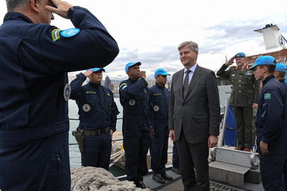 UN Peacekeeping Chief Visits UNIFIL Maritime Task Force