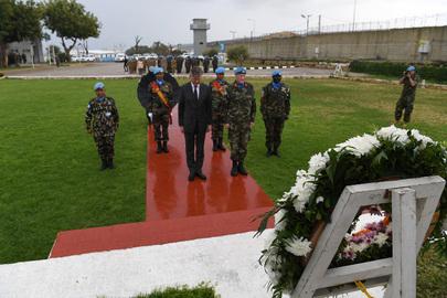 UN Peacekeeping Chief Lays Wreath for Fallen Peacekeepers in Lebanon